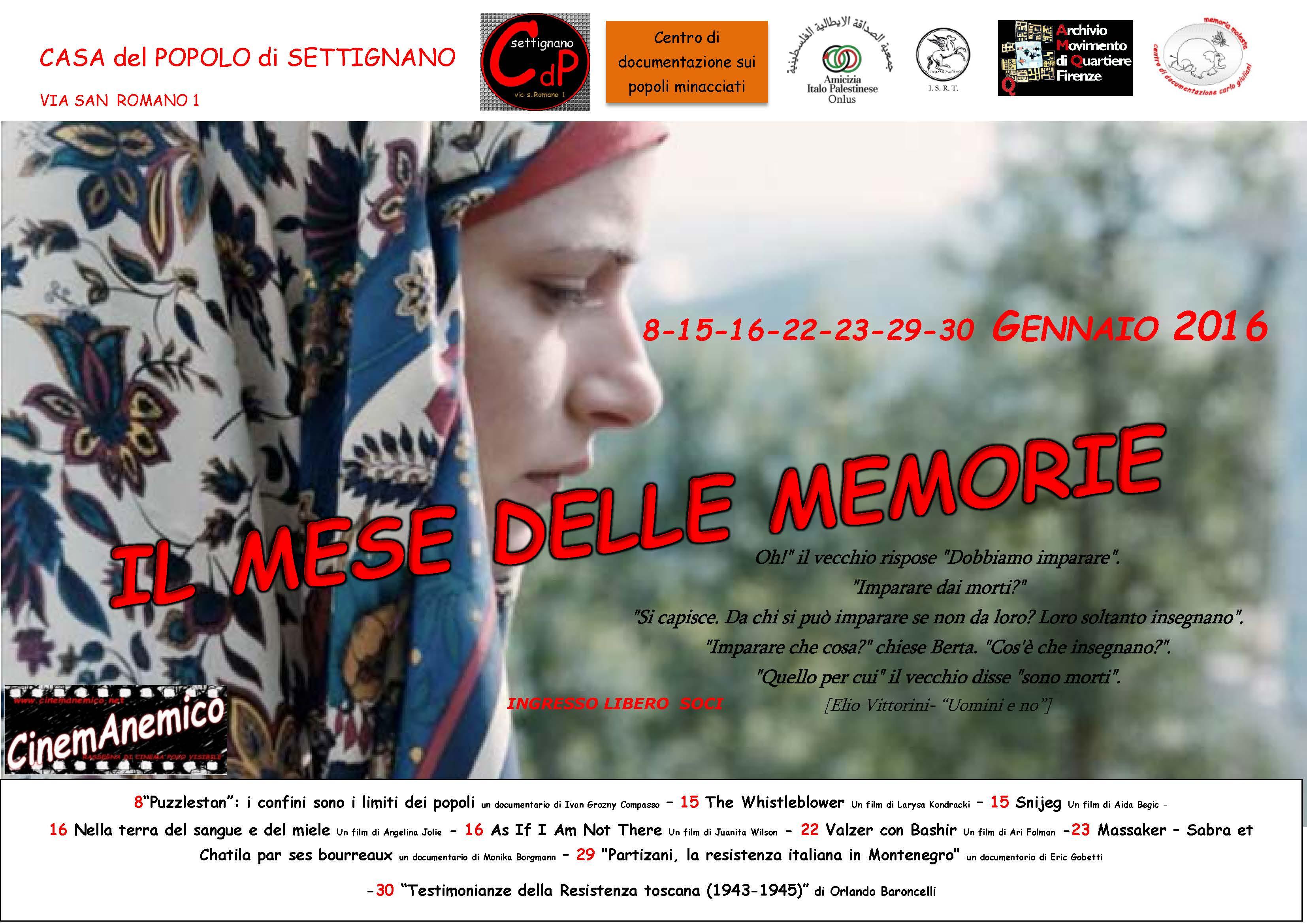 il mese delle memorie